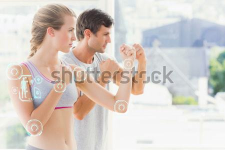 Woman putting shaving foam on boyfriends face Stock photo © wavebreak_media