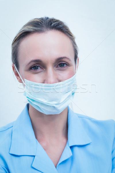 Vrouwelijke tandarts chirurgisch masker portret vrouw Stockfoto © wavebreak_media