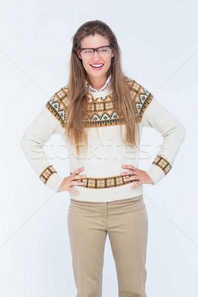 Happy geeky hipster smiling at camera  Stock photo © wavebreak_media