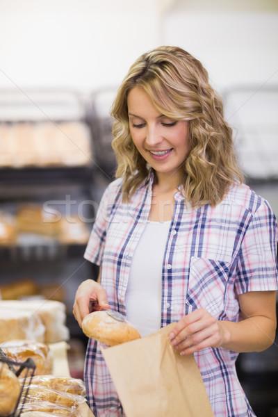 笑みを浮かべて パン ベーカリー ビジネス ストックフォト © wavebreak_media