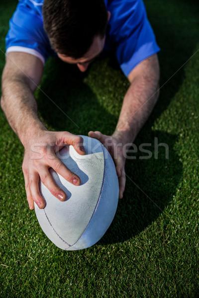 регби игрок мнение спорт синий мужчины Сток-фото © wavebreak_media