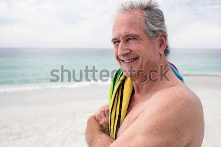 улыбаясь старший женщину доска для серфинга Сток-фото © wavebreak_media
