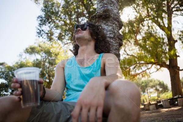 бессознательный человека спальный парка пьяный пива Сток-фото © wavebreak_media