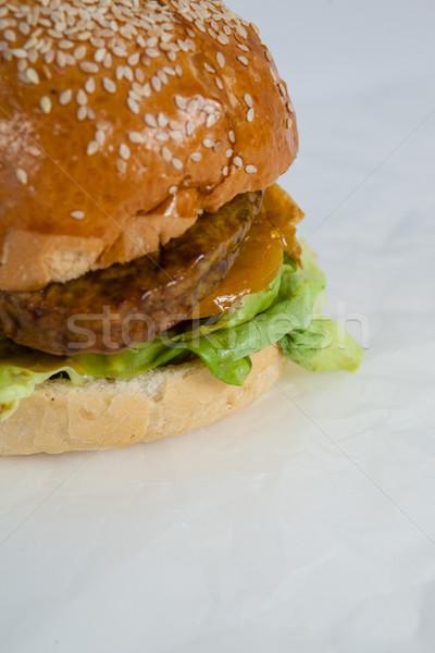 гамбургер белый бумаги продовольствие сэндвич Сток-фото © wavebreak_media