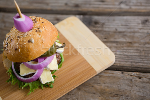 Foto stock: Ver · burger · requeijão · parede