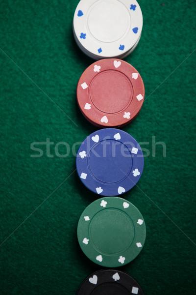 Fichas pôquer tabela sucesso jogar Foto stock © wavebreak_media