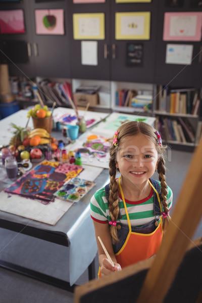 Portrait fille peinture toile classe Photo stock © wavebreak_media