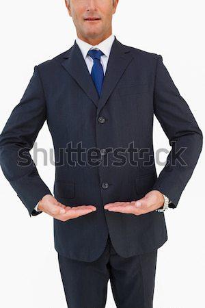 бизнесмен Постоянный рук телефон человека черный Сток-фото © wavebreak_media