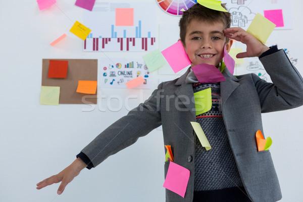 少年 ビジネス 執行 付箋 ボディ オフィス ストックフォト © wavebreak_media