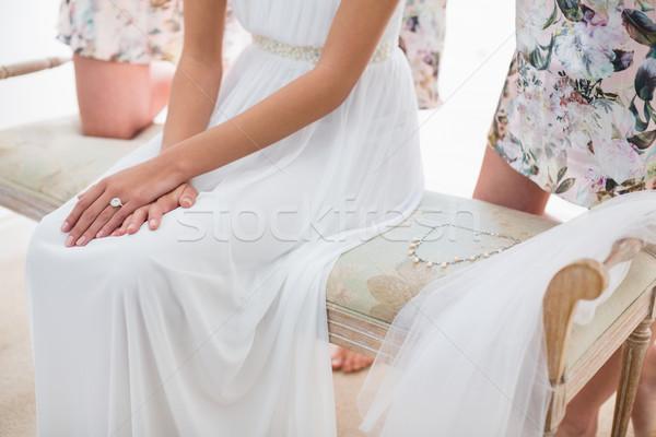 Mid-section of bride in wedding ring Stock photo © wavebreak_media