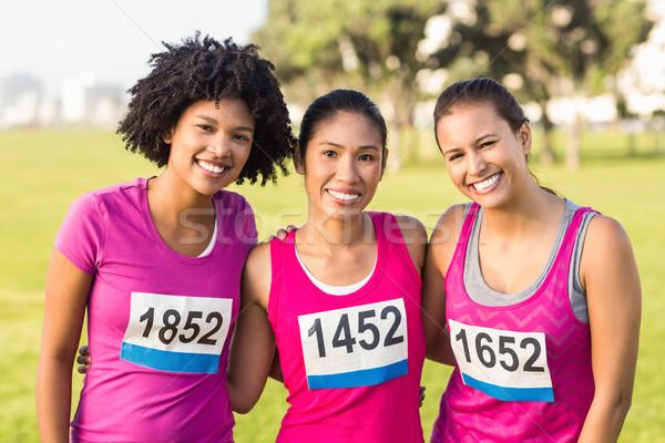 3  笑みを浮かべて ランナー 乳癌 マラソン 肖像 ストックフォト © wavebreak_media