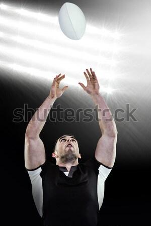 регби игрок мяча белый человека фитнес Сток-фото © wavebreak_media