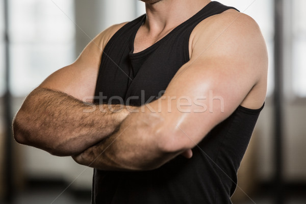 Midsection of man with arms crossed Stock photo © wavebreak_media