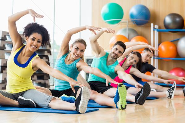 Fitness class exercising in the studio Stock photo © wavebreak_media