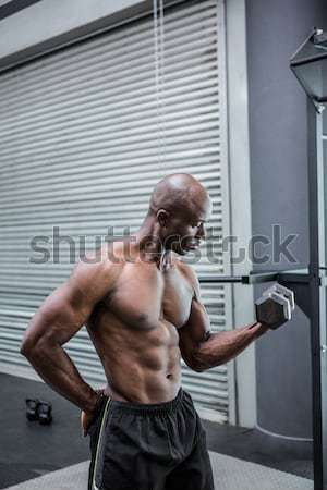 Torse nu homme muscles crossfit gymnase fitness Photo stock © wavebreak_media