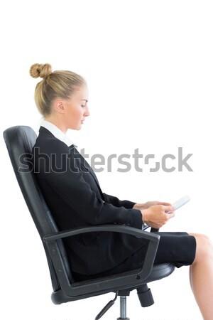 Bouleversé femme d'affaires séance blanche stress Photo stock © wavebreak_media