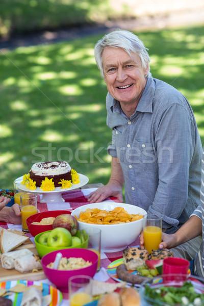Senior man having picnic Stock photo © wavebreak_media