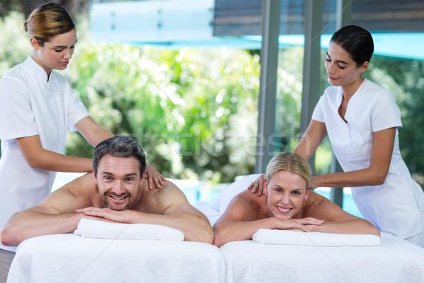 Powrót masażu masażysta spa Zdjęcia stock © wavebreak_media