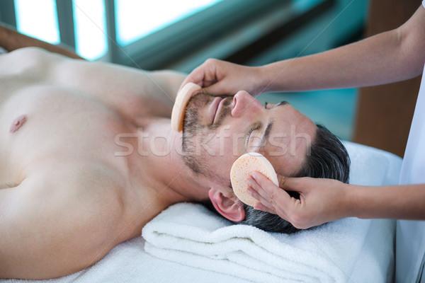 Férfi masszázs masszőr fürdő szépség ünnep Stock fotó © wavebreak_media