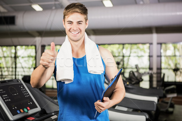 Portret szczęśliwy trener siłowni Zdjęcia stock © wavebreak_media