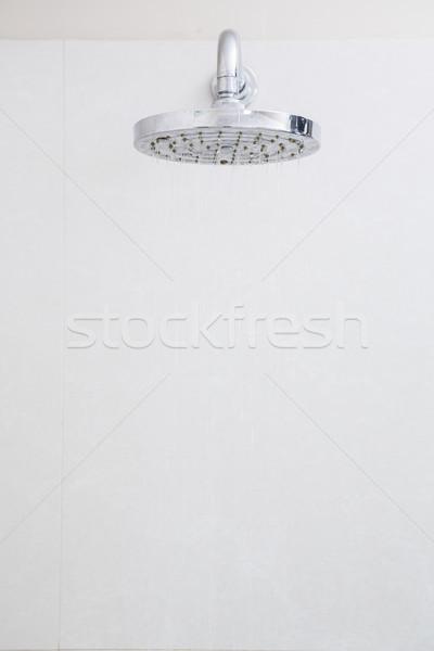 Primo piano bianco doccia bagno home Foto d'archivio © wavebreak_media