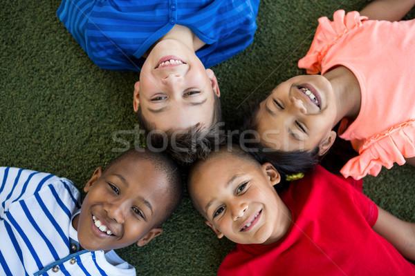 Portre mutlu çocuklar çocuk siyah Stok fotoğraf © wavebreak_media
