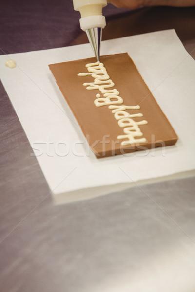 Munkás ír boldog születésnapot táska csokoládé fogkő Stock fotó © wavebreak_media