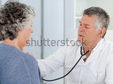 Medico paziente mascella clinica uomo Foto d'archivio © wavebreak_media