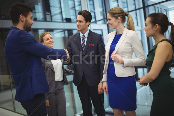 Business executives shaking hands Stock photo © wavebreak_media
