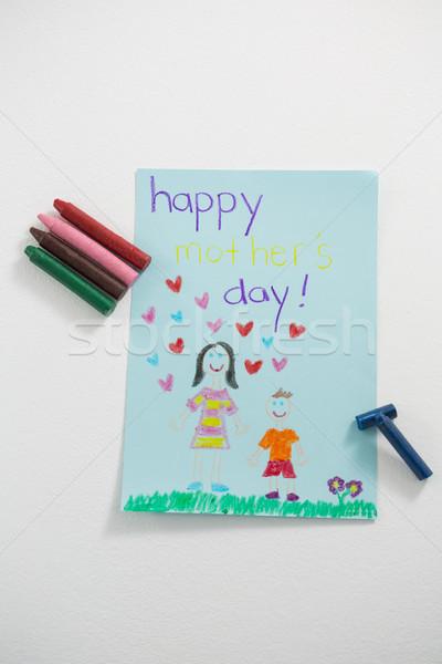 Carte de vœux crayons blanche amour Photo stock © wavebreak_media