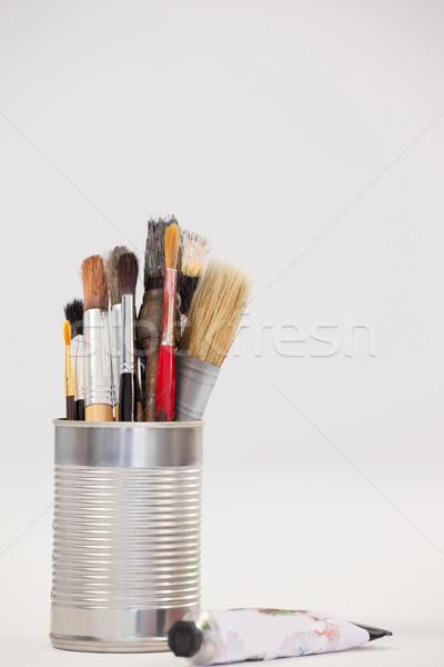 Vernice metallico jar tubo colore bianco Foto d'archivio © wavebreak_media