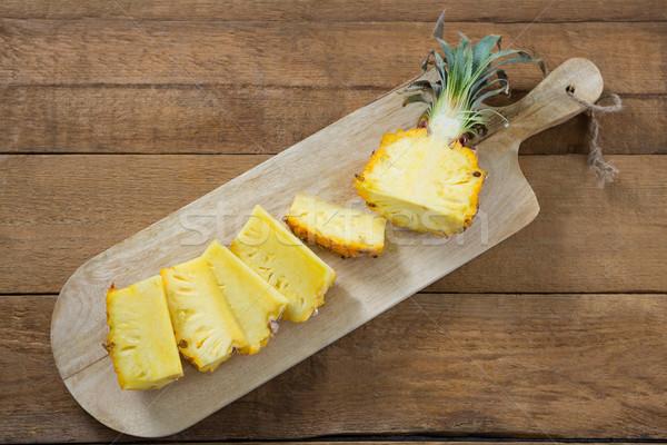 Ломтики ананаса древесины фрукты путешествия Сток-фото © wavebreak_media