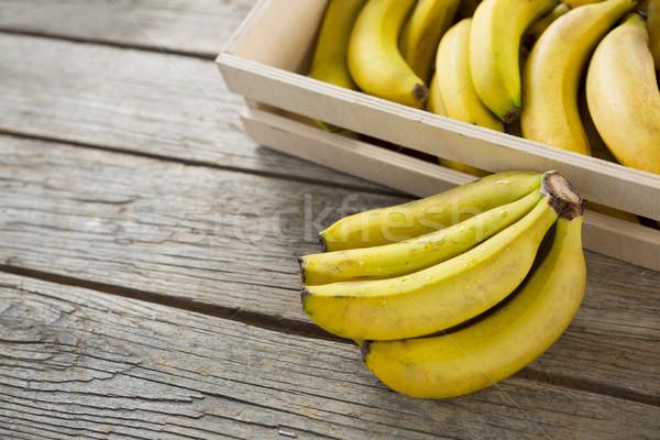 Bananów skrzynia żywności drewna śniadanie Zdjęcia stock © wavebreak_media