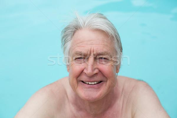 Feliz altos hombre piscina agua gimnasio Foto stock © wavebreak_media
