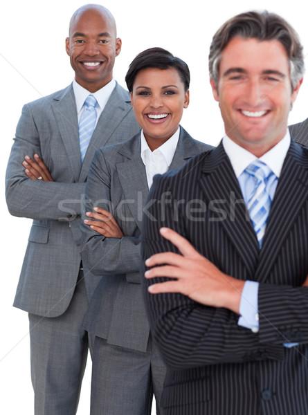 Portrait enthousiaste équipe commerciale blanche affaires sourire Photo stock © wavebreak_media
