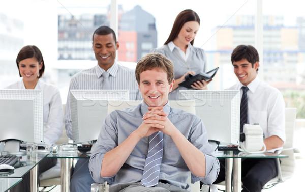 презентация честолюбивый бизнес-команды работу служба человека Сток-фото © wavebreak_media
