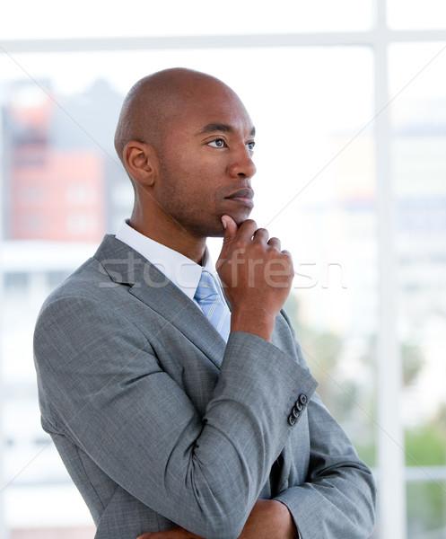 Portrait charismatique affaires bureau affaires homme Photo stock © wavebreak_media