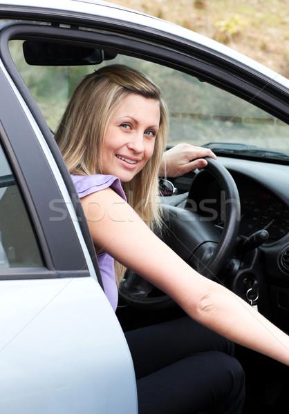 Young female driver at the wheel  Stock photo © wavebreak_media