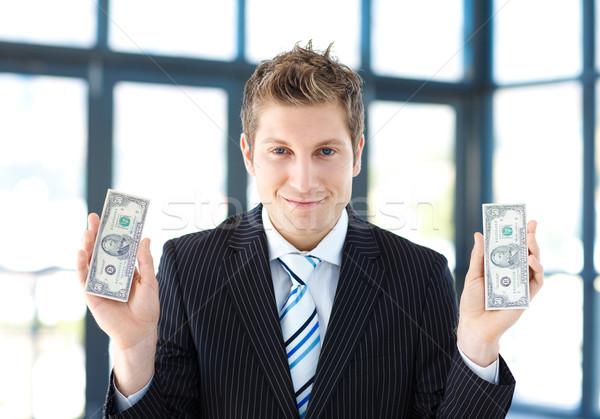 Atraente empresário dólares escritório negócio Foto stock © wavebreak_media