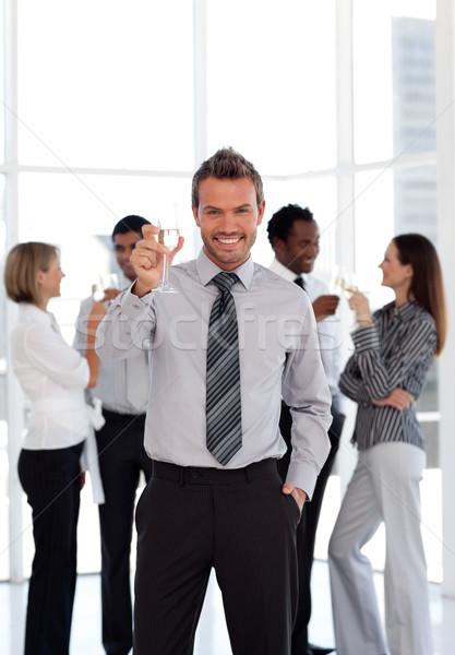 портрет улыбаясь мужчины лидера команда бизнеса Сток-фото © wavebreak_media