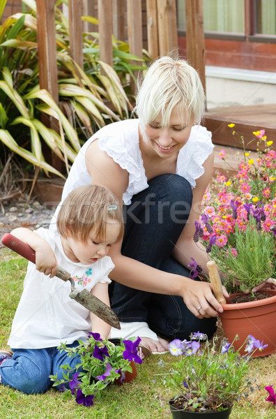 Delighted mother with her daughter outside Stock photo © wavebreak_media