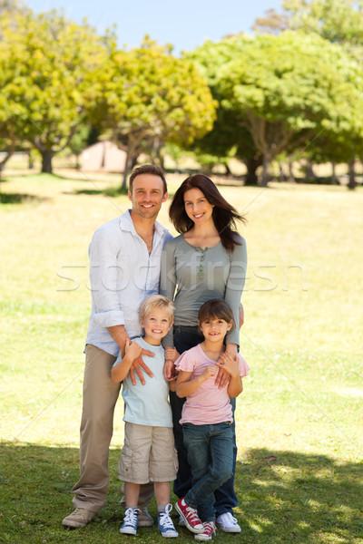 Portrait of a family in the park Stock photo © wavebreak_media
