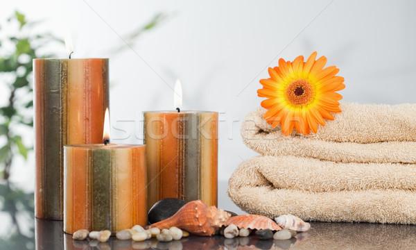 свечей оранжевый морем снарядов природы Сток-фото © wavebreak_media