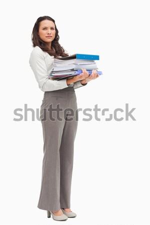 Feminino em pé branco mulher Foto stock © wavebreak_media