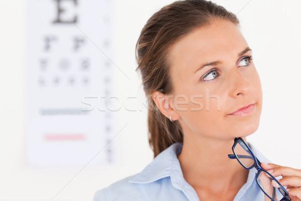 Oog specialist chirurgie glimlach arts ogen Stockfoto © wavebreak_media