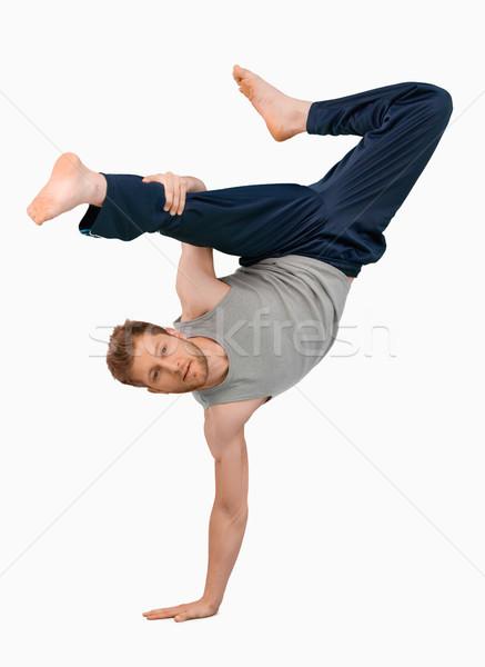 Break ballerino uno handstand bianco dance Foto d'archivio © wavebreak_media