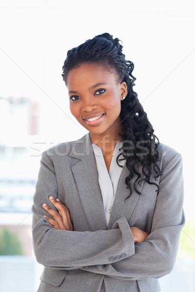 Employé affaires costume bras Photo stock © wavebreak_media