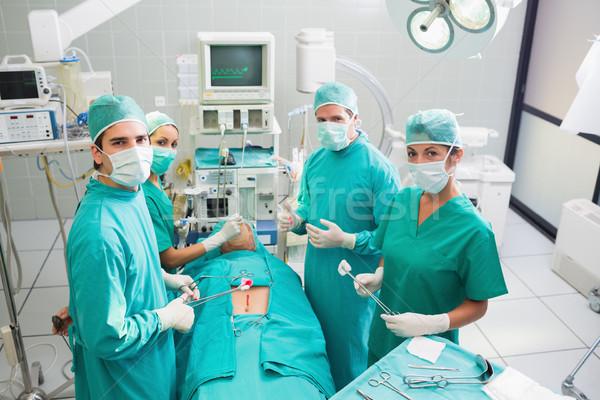 Сток-фото: группа · хирург · рабочих · пациент · театра · больницу