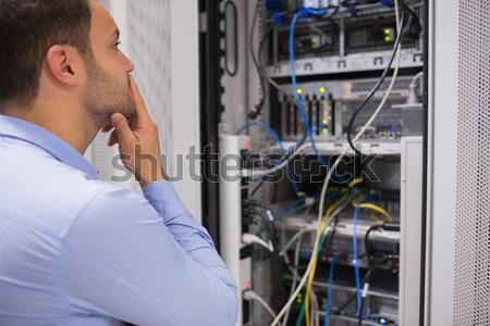 человека оружия сервер данные центр компьютер Сток-фото © wavebreak_media