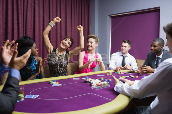 Persone poker tavola mano uomo Foto d'archivio © wavebreak_media